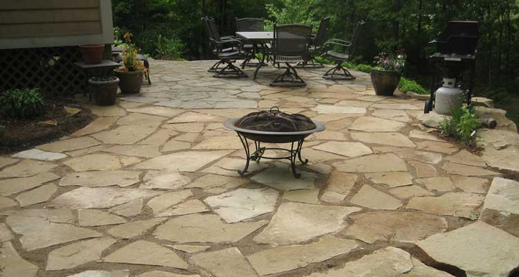 Building A Flagstone Patio : Flagstone patio construction steps artifex industries